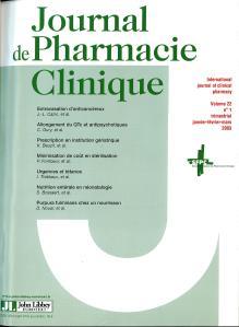 JOURNAL DE PHARMACIE CLINIQUE