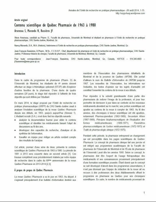 Première page