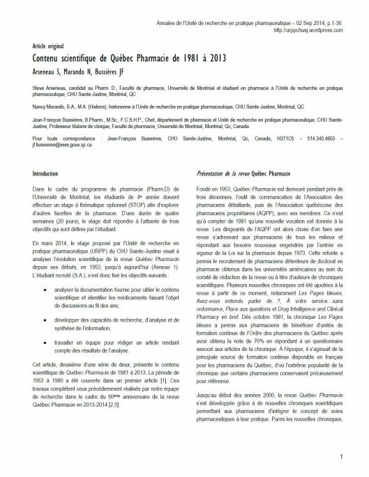 Première page article