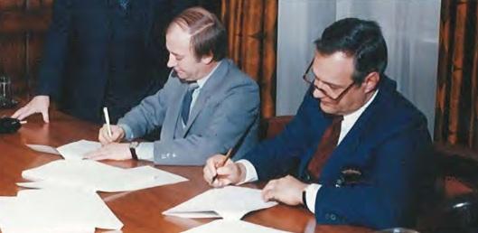Signature entente 1985