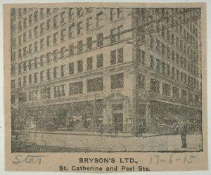 Pharmacie Bryson, Source BAnQ