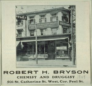 Pharmacie Bryson, Source: BAnQ