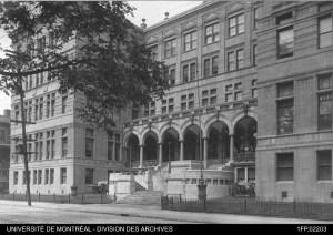 Université de Montréal, Source: https://histoirepharmacie.wordpress.com/2015/09/22/1906-fondation-de-lecole-de-pharmacie-de-luniversite-laval-a-montreal/