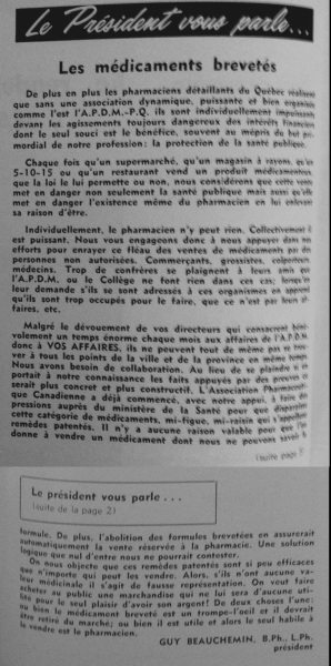 Bulletin APDM 1961-03_édito